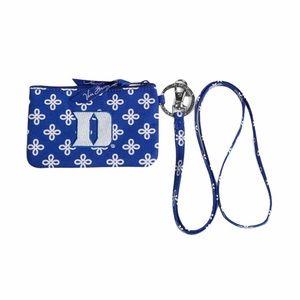 Vera Bradley Duke University Zip ID Lanyard, Blue